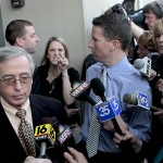 Sandy Fonzo confronts Mark Ciavarella outside Federal Courthouse  - Kids For Cash Movie
