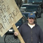 Protestor outside the Federal Courthouse during Ciavarella's trial - Kids For Cash Movie